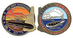 USS New Hampshire SSN-778 Challenge Coin