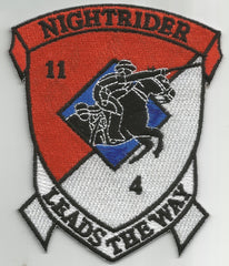 "11th Armored Cavalry Regiment 4th Squadron TROOP N Military Patch NIGHTRIDER ""LEADS THE WAY"""