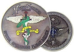 160th SOAR Flight Medics Night Stalker Challenge Coin