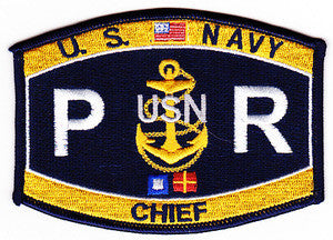 Navy Chief Aircrew Survival Equipment Parachute Rigger Rating Military Patch PR