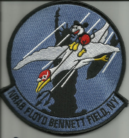 NAVAL RESERVE AIR BASE NRAB FLOYD BENNETT FIELD NEW YORK MILITARY PATCH MICKEY
