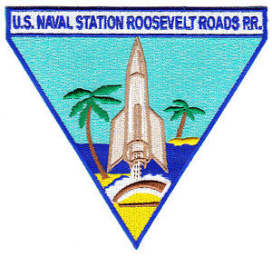 NAVAL STATION ROOSEVELT ROADS P.R. MILITARY PATCH - Triangle
