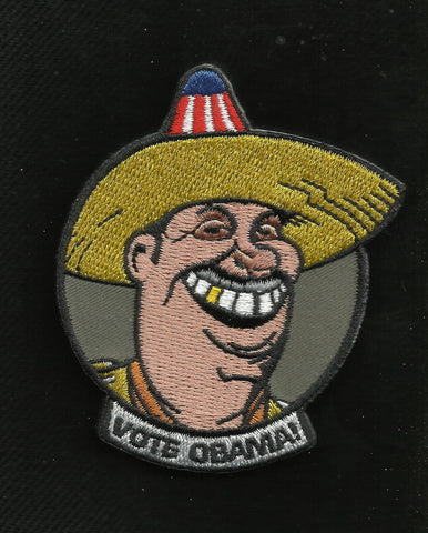 VOTE OBAMA! Tactical Humor Combat Badge Hook & Loop Patch