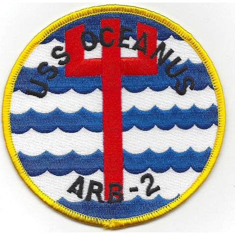 ARB-2 USS OCEANUS Battle Damage REPAIR SHIP MILITARY PATCH