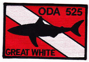 ARMY 1st Battalion 5th Special Forces Group Operational Detachment Alpha ODA 525 Military Patch GREAT WHITE
