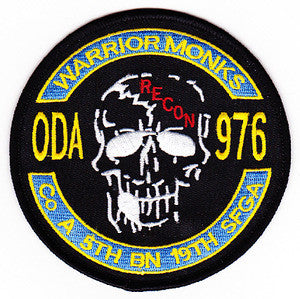 ARMY Co A 5th Battalion 19th Special Forces Group Operational Detachment Alpha ODA-976 Military Patch WARRIOR MONKS
