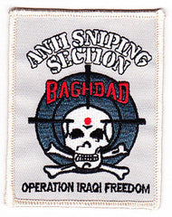 Special Forces Counter Terrorist Unit Team Anti-Sniping Section Military Patch BAGHDAD OPERATION IRAQI FREEDOM