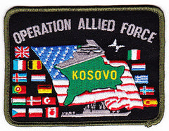 Operation Allied Forces NATO bombing of Yugoslavia Military Patch 23 MARCH - 10 JUNE 1999