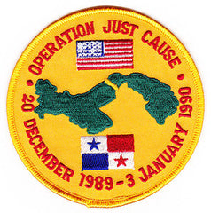 Operation Just Cause United States Invasion of Panama Military Patch 20 DECEMBER 1989-3 JANUARY 1990