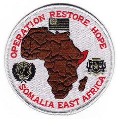 Operation Restore Hope Somalia East Africa Unified Task Force Military Patch