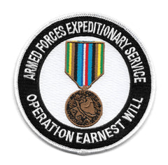 Operation Earnest Will Armed Forces Expeditionary Service Military Patch
