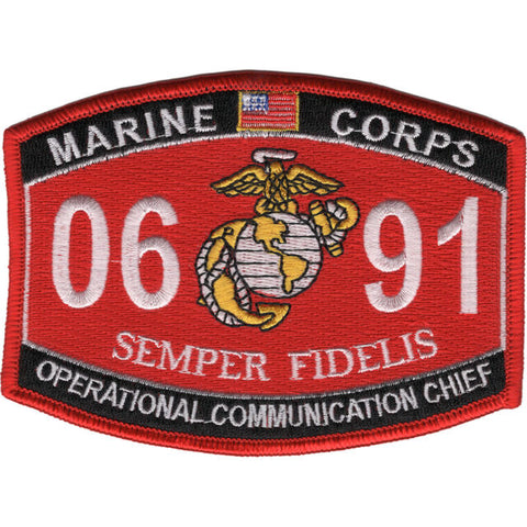 0691 OPERATIONAL COMMUNICATION CHIEF USMC MOS MILITARY PATCH SEMPER FIDELIS