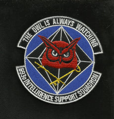 United States AIR FORCE 693d Intelligence Support Squadron VELCRO Military Patch THE OWL IS ALWAYS WATCHING