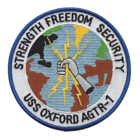 AGTR 1 USS Oxford - Technical Research Ship (STRENGTH FREEDOM SECURITY) Military Patch