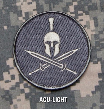 SPARTAN HELMET - ACU LIGHT - TACTICAL BADGE COMBAT BLACK OPS MORALE HOOK MILITARY PATCH