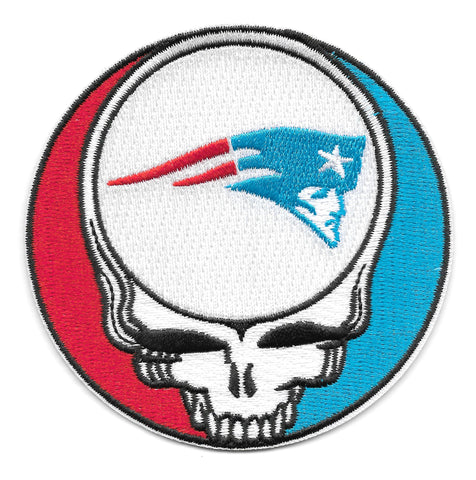 Steal Your Face Patriots Dead Head Skull Patch