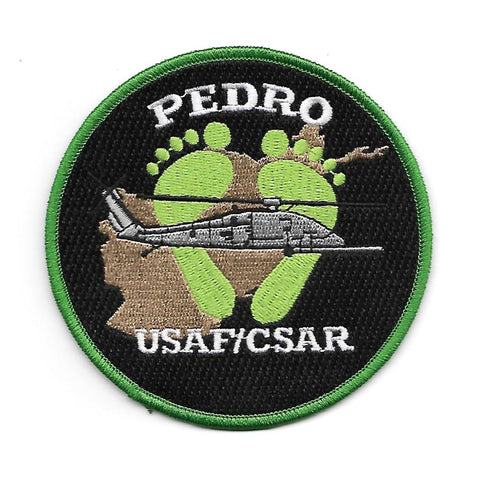 Pararescue PEDRO Green Feet USAF/CSAR Military Patch