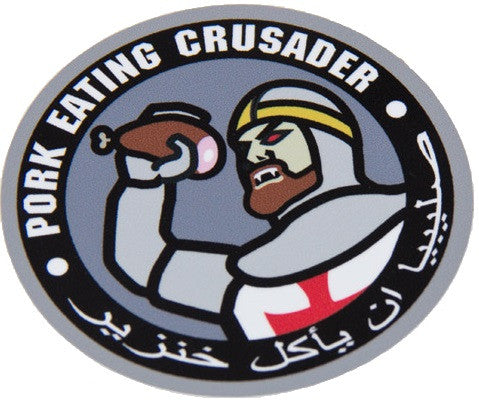 Pork Eating Crusader Combat Tactical Decal Sticker