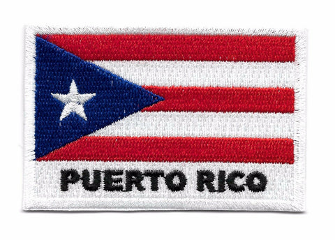Puerto Rican Iron On Flag Patch