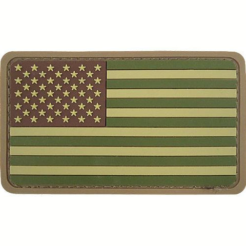 American Flag PVC Hook USA Patch - Multicam