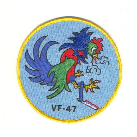 VF-47 US Navy Fighter Squadron Forty Seven Patch - Fighting Cocks
