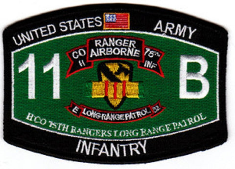 75th Ranger Regiment H Co Long Range Patrol ARMY Patch 11 B INFANTRY