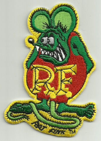 "Officially Licensed ED ""BIG DADDY"" ROTH Rat Fink Patch - RED & GREEN"