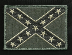 AMERICAN REBEL CONFEDERATE FLAG HOOK PATCH ACU LIGHT