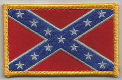 REBEL CONFEDERATE FLAG PATCH - COLOR