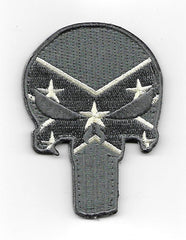 PUNISHER SKULL HOOK & LOOP PATCH - ACU REBEL FLAG