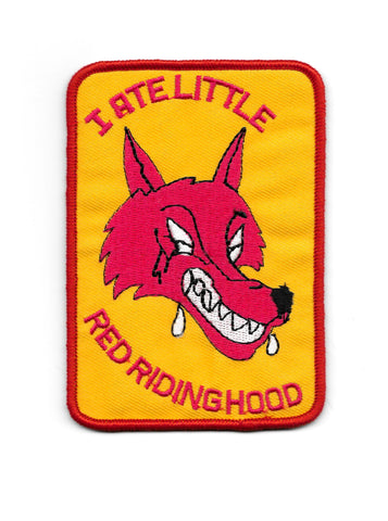 I Ate Little Red Riding Hood Vintage Patch