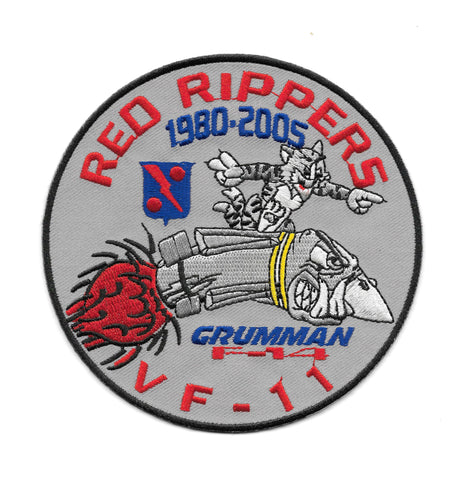 VF-11 Red Rippers Squadron Patch F-14 Tomcat - MILITARY PATCH Grumman