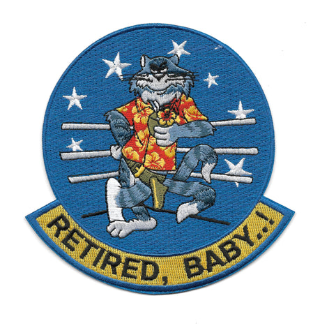 Tomcat F-14 RETIRED, BABY! USN Navy Military Patch