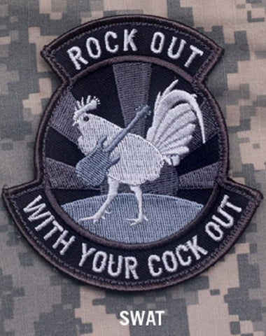 ROCK OUT WITH YOUR COCK OUT HOOK BACKING PATCH - SWAT