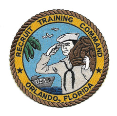 NAVY RECRUIT TRAINING COMMAND ORLANDO, FLORIDA MILITARY PATCH RTC