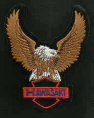 KAWASAKI Eagle Upwings Motorcycle Vintage Patch