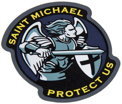 SAINT MICHAEL PROTECT US TACTICAL COMBAT DECAL STICKER