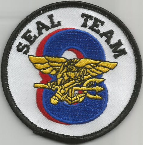 UNITED STATES NAVY SEAL TEAM EIGHT MILITARY PATCH - SEAL TEAM 8