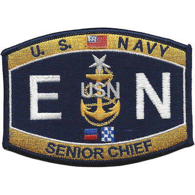 Senior Chief Engineman Rating Navy Military Patch ENCS