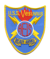 AE-15 USS Vesuvius Ammunition Ship Military Patch SHIELD