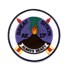 AE-17 USS Great Sitkin Ammunition Ship Military Patch ALWAYS READY