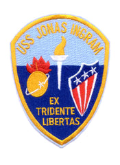 DD-938 USS JONAS INGRAM Destroyer Ship Military Patch Tin Can EX TRIDENTE LIBERTAS