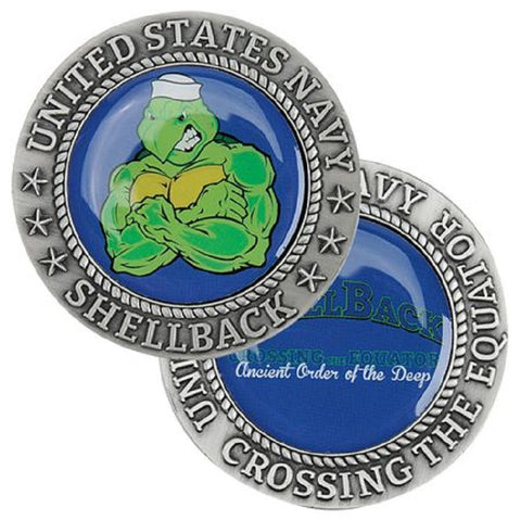 Crossing the Equator SHELLBACK Challenge Coin