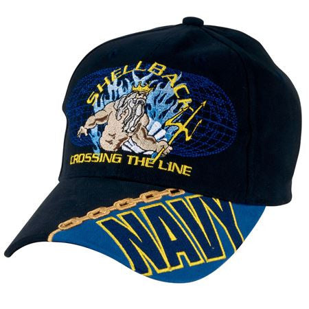 NAVY SHELLBACK CROSSING THE LINE HAT