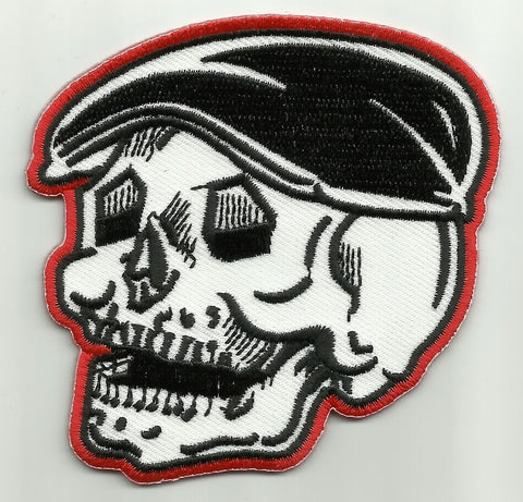 SKULL WEARING HAT PATCH