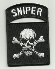 SNIPER TAB SKULL & CROSSBONES PATCH