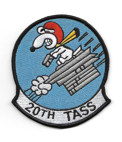 20th Tactical Air Support Squadron 20th TASS Military Patch - Snoopy