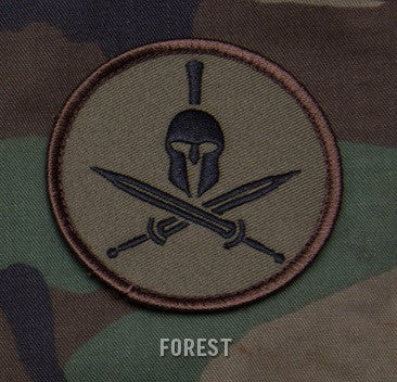 SPARTAN HELMET - FOREST - TACTICAL BADGE COMBAT BLACK OPS MORALE VELCRO MILITARY PATCH