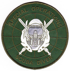 ARMY Special Operations Scuba Diver Military Patch