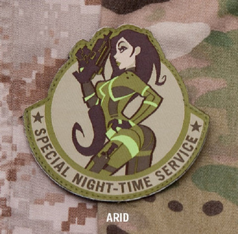 SPECIAL NIGHT TIME SERVICE COMBAT MORALE MILITARY PATCH - ARID